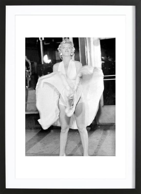 Marilyn Monroe, 1954 Seven Year Itch affiche sous cadre en bois