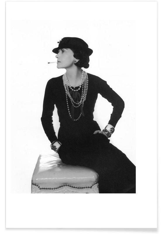 Coco Chanel, 1972 Vintage Photograph Poster
