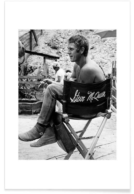 Steve McQueen taking a break, 1966 affiche