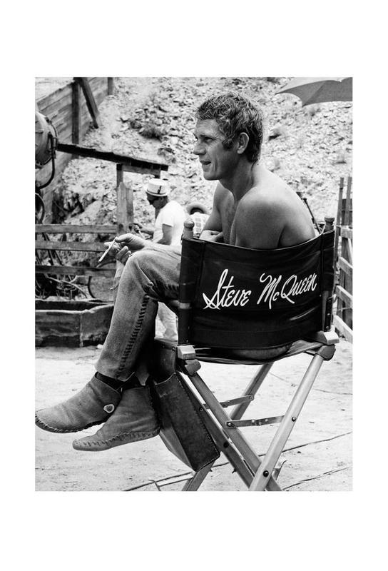 Steve McQueen taking a break, 1966 Acrylic Print