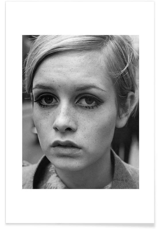 Black & White, Vintage, Twiggy, 1966 Vintage Photograph Poster