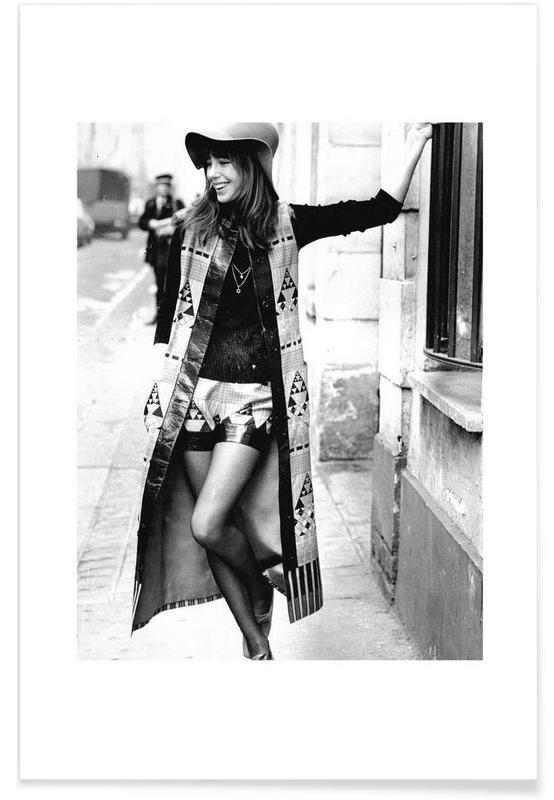 Jane Birkin Wearing Yves St Laurent, Paris Photograph Poster