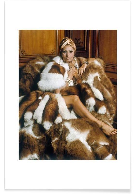 Vintage, Sophia Loren affiche