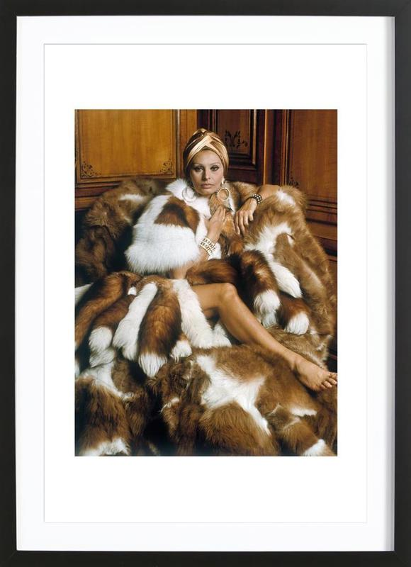 Sophia Loren ingelijste print