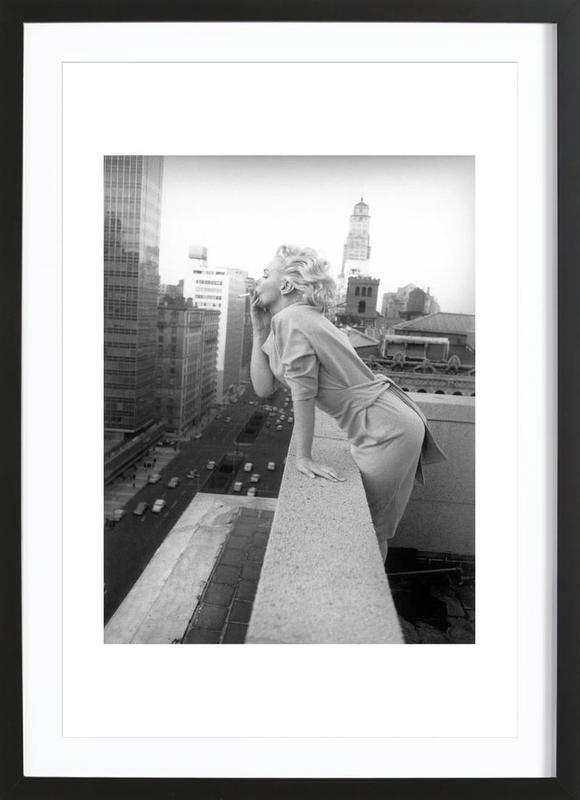 Marilyn Monroe in New York, 1955 ingelijste print