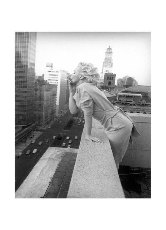 Marilyn Monroe in New York, 1955 canvas doek