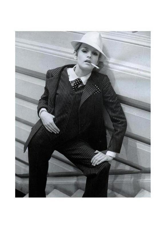 Twiggy Lawson, February 1967 -Leinwandbild