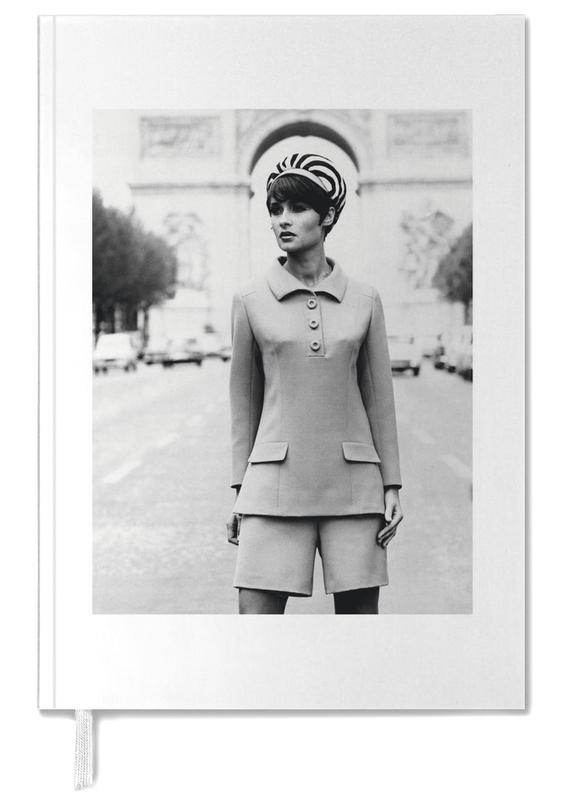 Vintage, Photos de mode, Noir & blanc, Outfit created by Pierre Balmain for airline hostesses of the future. agenda