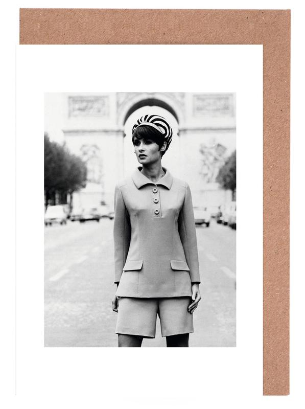 Outfit created by Pierre Balmain for airline hostesses of the future. -Grußkarten-Set