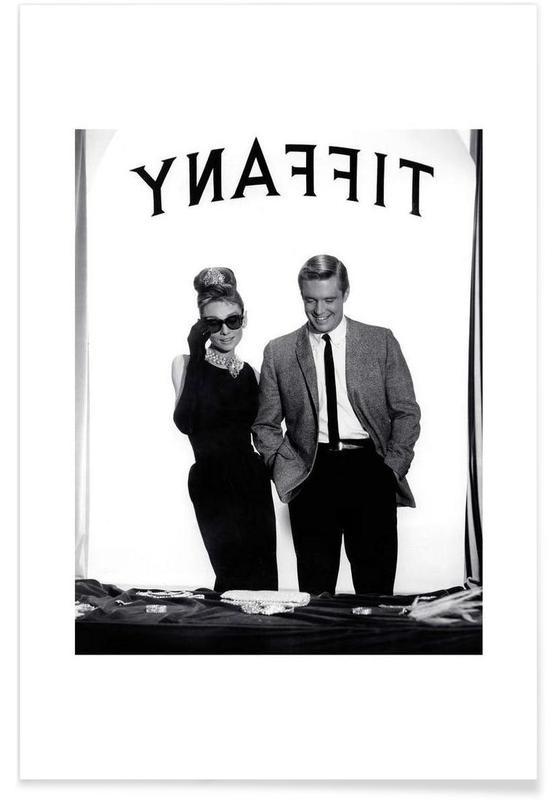 Audrey Hepburn, George Peppard in Breakfast at Tiffany's Poster