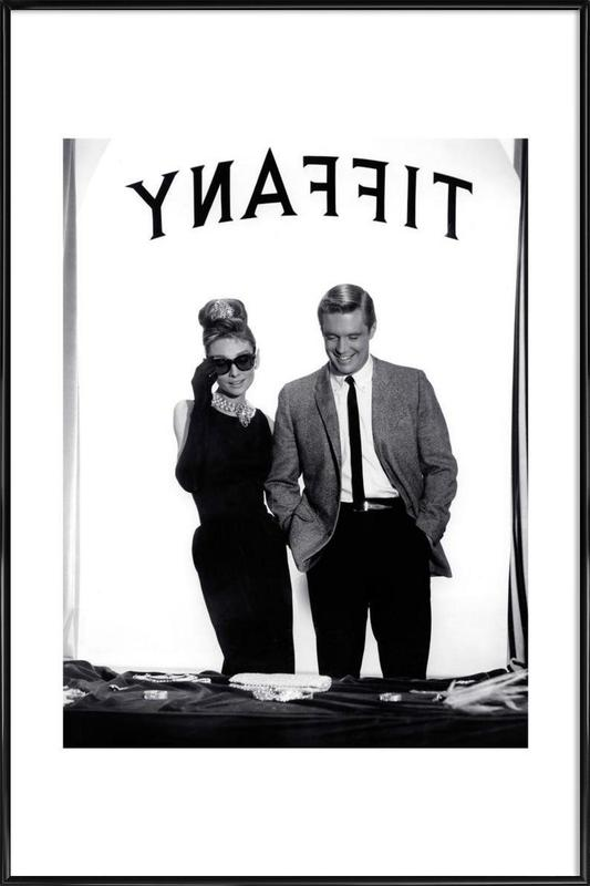 Audrey Hepburn, George Peppard in Breakfast at Tiffany's Framed Poster