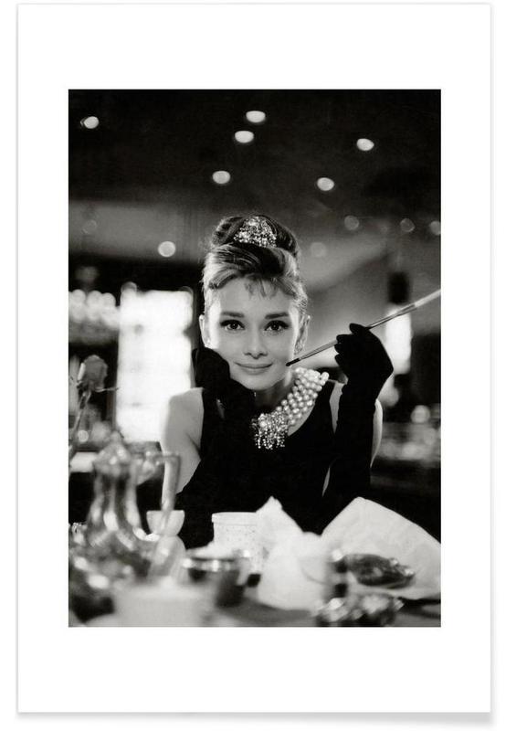 Audrey Hepburn, Sort & hvidt, Audrey Hepburn in Breakfast at Tiffany's, 1961 Plakat