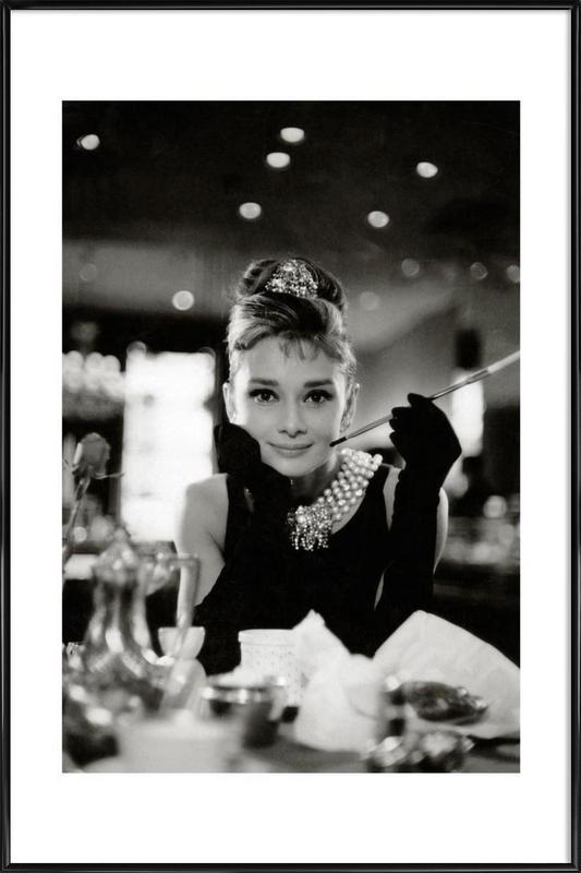 Audrey Hepburn in Breakfast at Tiffany's, 1961 Poster i standardram