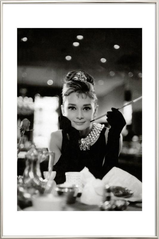 Audrey Hepburn in Breakfast at Tiffany's, 1961 Poster i aluminiumram
