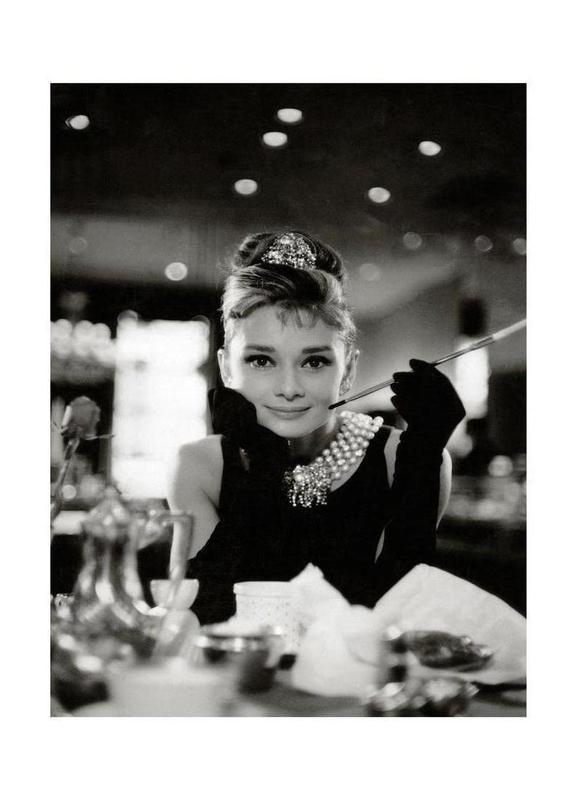 Audrey Hepburn in Breakfast at Tiffany's, 1961 Canvas Print