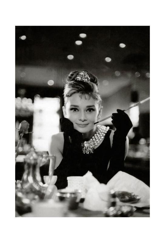 Audrey Hepburn in Breakfast at Tiffany's, 1961 Aluminiumtavla