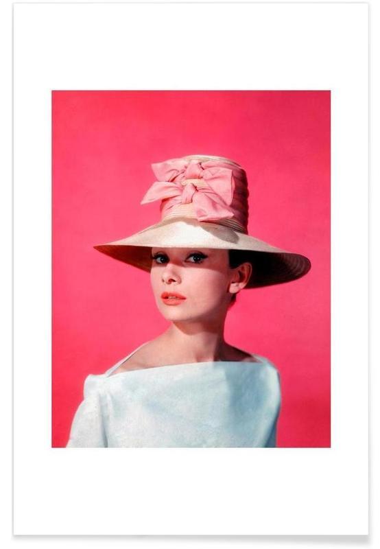 Audrey Hepburn, Audrey Hepburn in Ein süßer Fratz, 1957-Fotografie -Poster