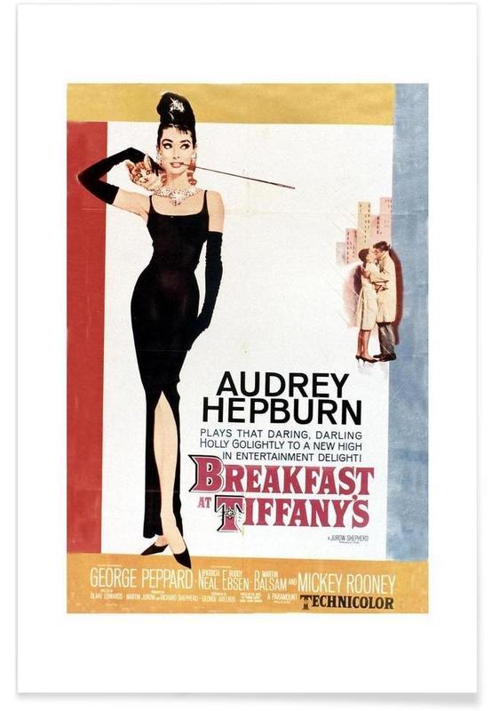 Audrey Hepburn, Films, Audrey Hepburn, Breakfast at Tiffany's, 1961 affiche