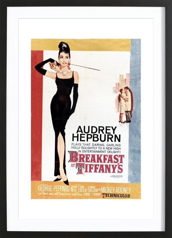 Audrey Hepburn, Breakfast at Tiffany's, 1961 ingelijste print