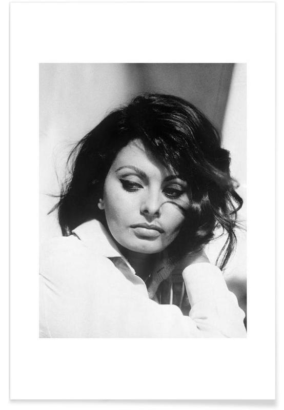 Sort & hvidt, Sophia Loren, 1969 Vintage Photograph Plakat