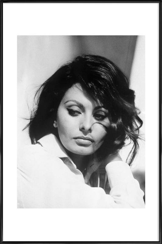 Sofia Loren, 1969 -Bild mit Kunststoffrahmen