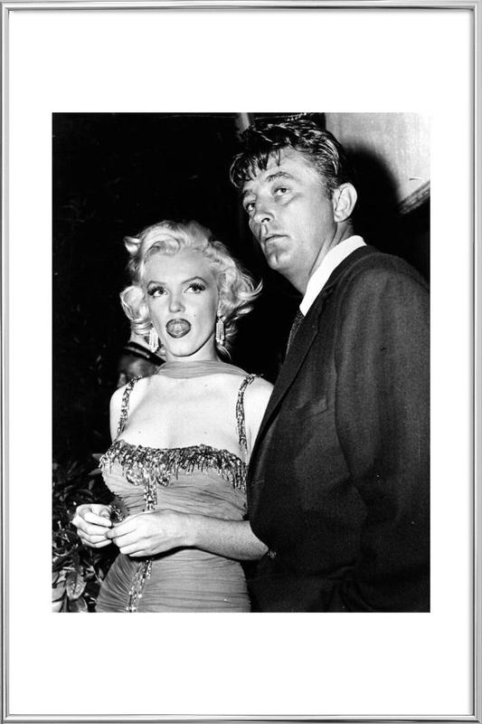 Marilyn Monroe and Robert Mitchum, 1953 Poster in Aluminium Frame