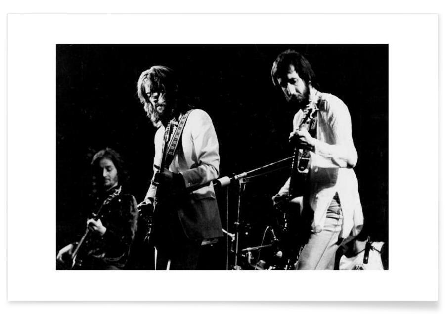 Noir & blanc, Eric Clapton et Pete Townsend - Photographie vintage affiche
