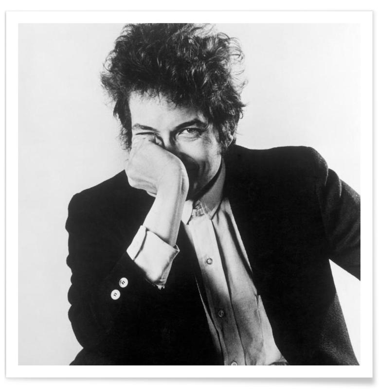 Noir & blanc, Bob Dylan, Bob Dylan - Photographie vintage affiche