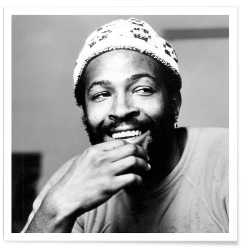 Jazz, Black & White, Marvin Gaye Vintage Photograph Poster