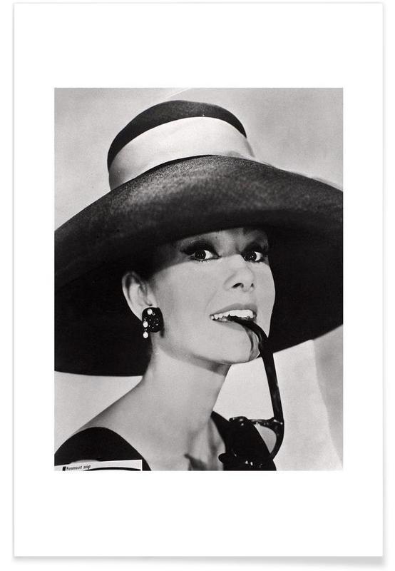 Audrey Hepburn - Photographie vintage affiche