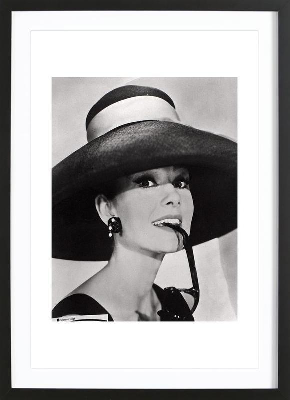 Audrey Hepburn affiche sous cadre en bois