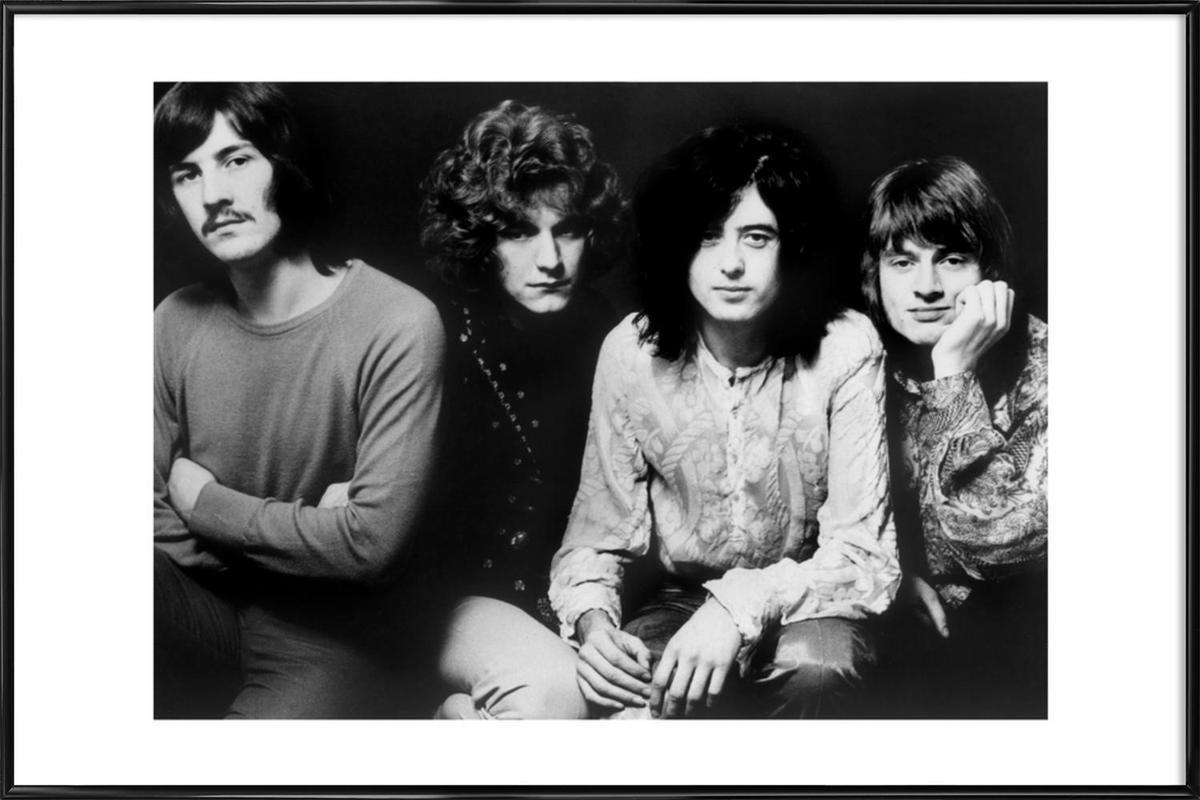 Led Zeppelin -Bild mit Kunststoffrahmen