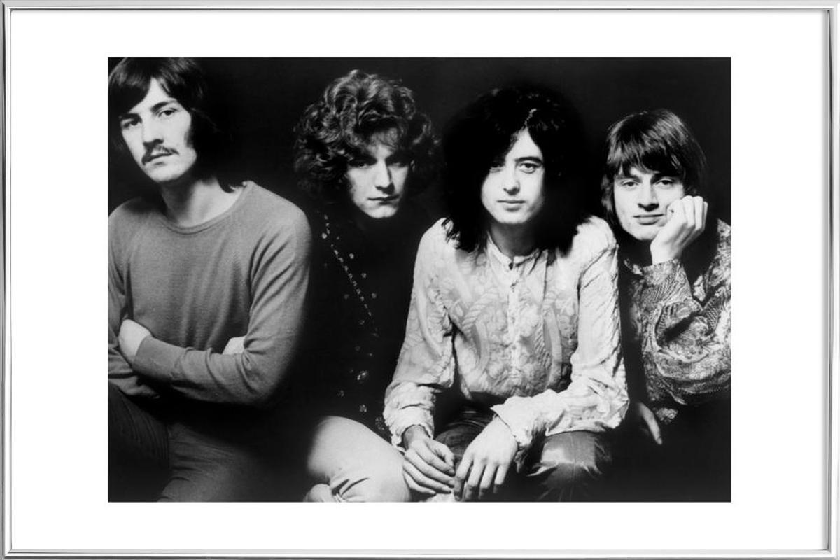 Led Zeppelin poster in aluminium lijst