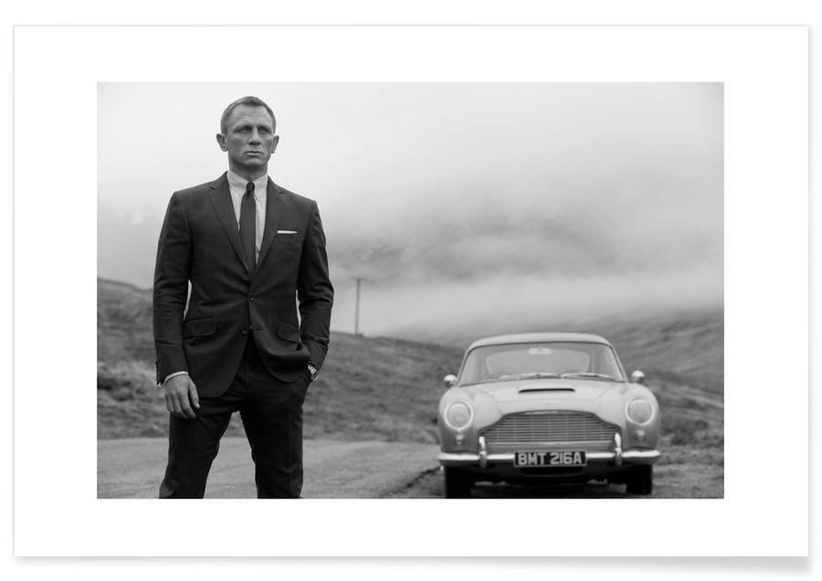 Sort & hvidt, Vintage, James Bond, Daniel Craig as James Bond Photograph Plakat