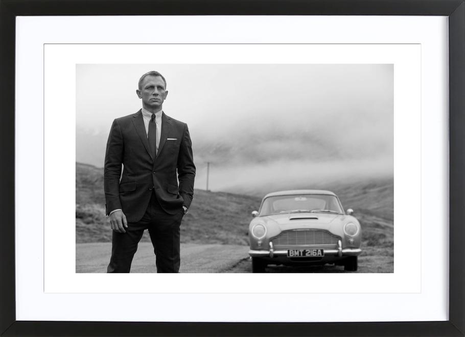 Daniel Craig as James Bond Framed Print