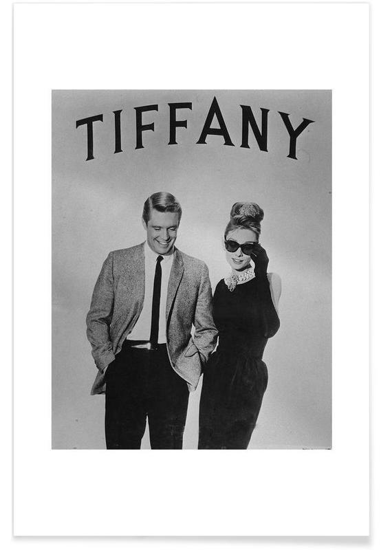 Audrey Hepburn, Noir & blanc, Films, Petit déjeuner chez Tiffanys - Photographie affiche