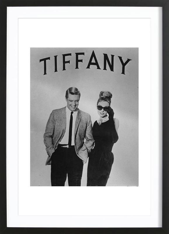 Breakfast at Tiffany's -Bild mit Holzrahmen