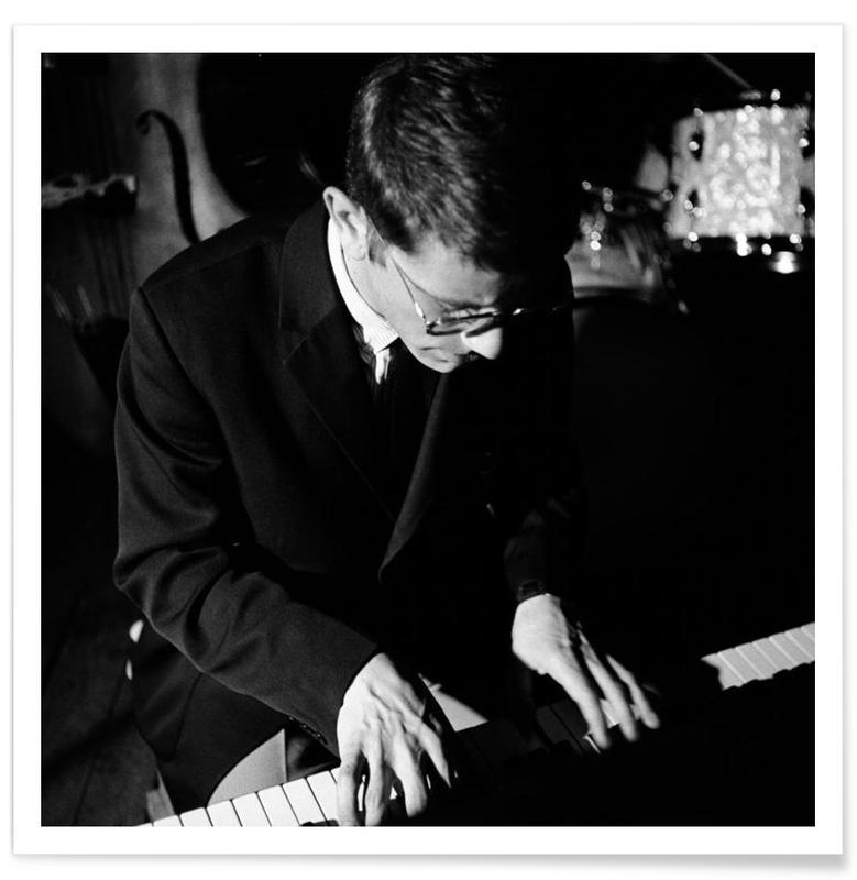 Zwart en wit, Jazz, Foto van Jan Huydts, 1965 poster