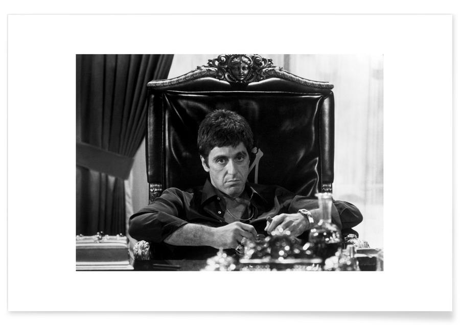 Al Pacino, Svart & vit, Filmer, Al Pacino in Scarface Photograph Poster