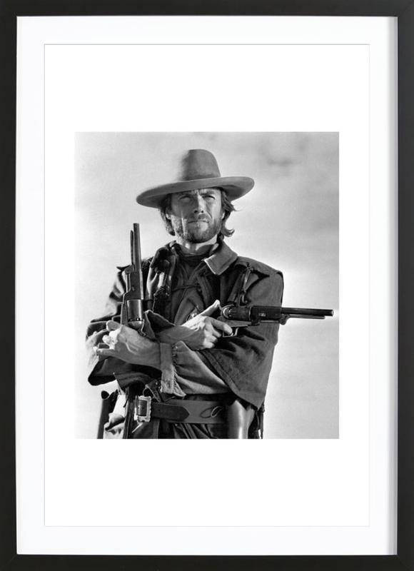 Clint Eastwood in The Outlaw Josey Wales, 1975 ingelijste print