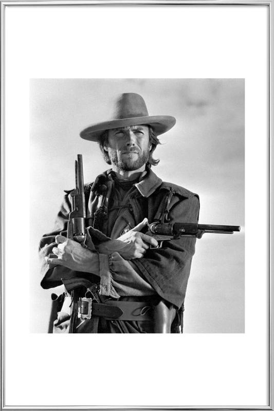 Clint Eastwood in The Outlaw Josey Wales, 1975 -Poster im Alurahmen