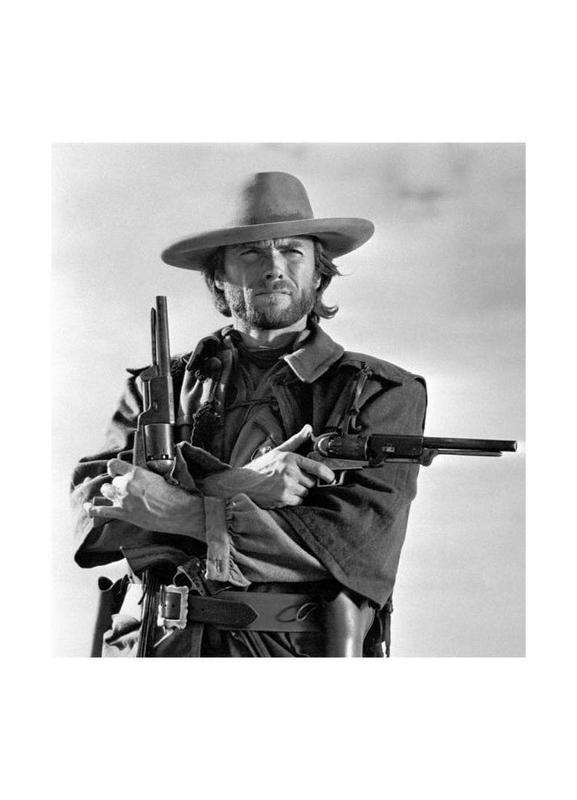 Clint Eastwood in The Outlaw Josey Wales, 1975 -Leinwandbild