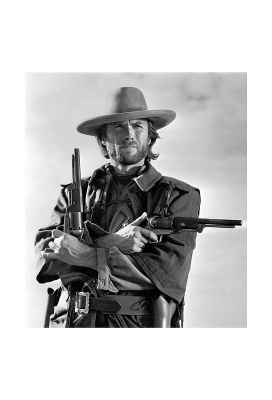 Clint Eastwood in The Outlaw Josey Wales, 1975 -Acrylglasbild