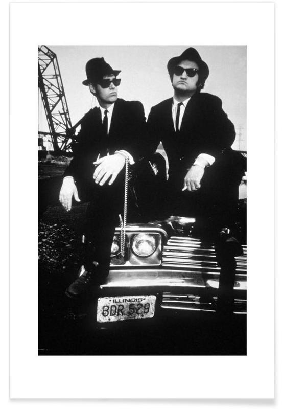 Noir & blanc, Films, Akroyd et Belushi dans Blues Brothers, 1980 - Photographie affiche