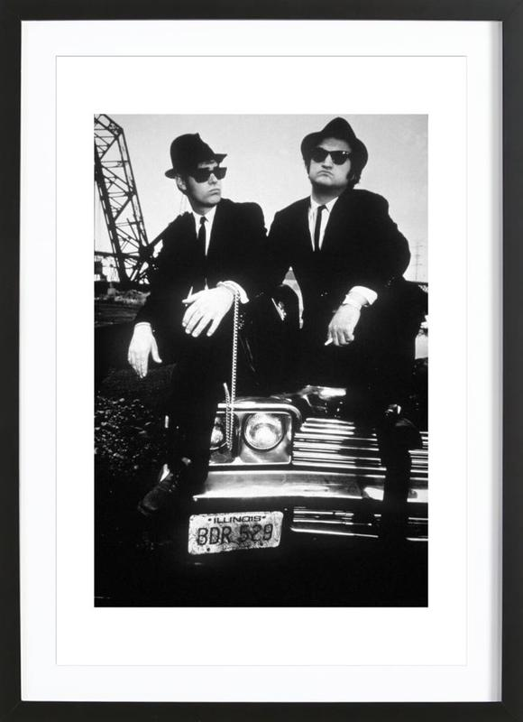 Dan Akroyd and John Belushi in Blues Brothes, 1980 ingelijste print