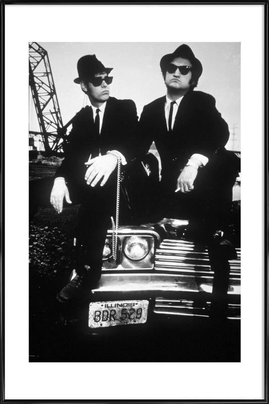Dan Akroyd and John Belushi in Blues Brothes, 1980 ingelijste poster
