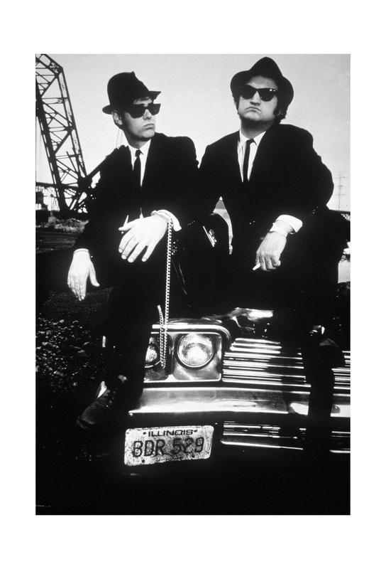 Dan Akroyd and John Belushi in Blues Brothes, 1980 Acrylic Print