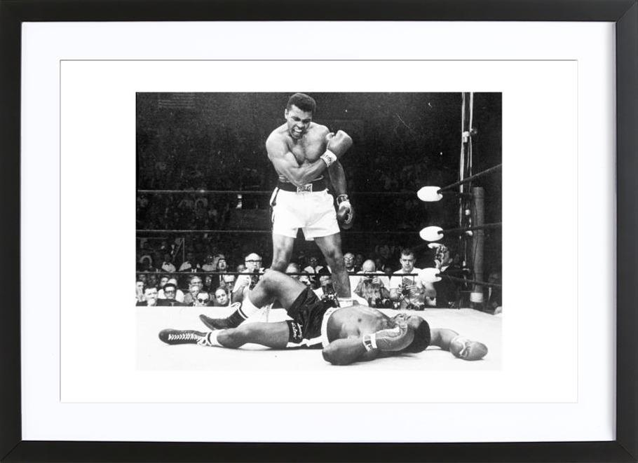 Muhammad Ali rematch with Sonny Liston, 1965 Framed Print
