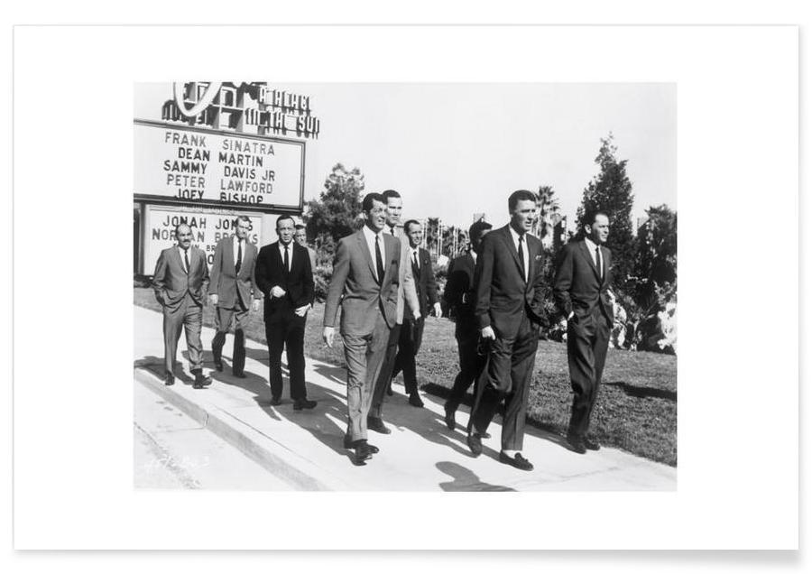 Noir & blanc, Vintage, Groupes, La meute de rats, 1964 - Photographie affiche