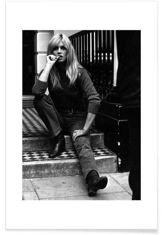 Schwarz & Weiß, Brigitte Bardot, Brigitte Bardot, 1966-Fotografie -Poster